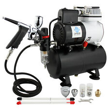 OPHIR 3 Tips Nozzles Airbrush Air Brush Compressor with Tank for Craftwork
