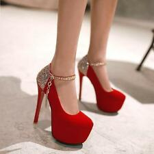 Women' sexy Platform Stilettos High-heels Fashion Dress Wedding Party Shoes Size