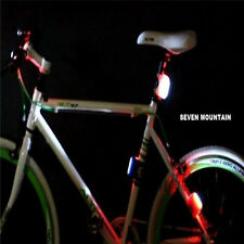 Cycling Bike Bicycle Silicone 7 LED Frog Front Head Light Rear Warning Lamp