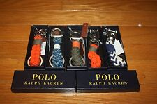 New w/ Box POLO Ralph Lauren Unisex Snap-Shackle or Swivel-Pin Braided Key Fob