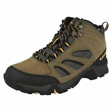 "MENS HI-TEC BROWN/TAUPE/GOLD WATERPROOF WALKING BOOTS ""IDAHO WP"""