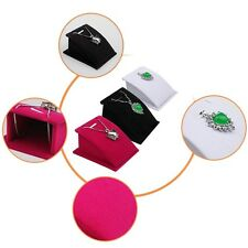 New Velvet Jewelry Necklace Pendant Drop Chain Display Holder Standing Stands YL