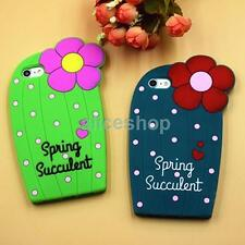 For iPhone 6 6S Plus Cute Polka Dots Flower Cactus Soft Silicone Soft Case Cover