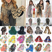 Fashion Women Ladies Chiffon Neck Scarf Long Scarves Warm Wrap Soft Stole Shawl
