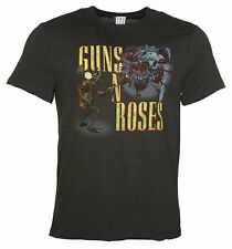 Official Men's Charcoal Guns N' Roses Appetite Attack T-Shirt from Amplified