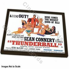OFFICIAL 50th Years 007 James Bond Connery Thunderball Art Print +/- Frame (#4)