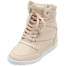 Epic7snob Womens Shoes Korea High Top Wedges Heel Lace Up Fashion Sneakers