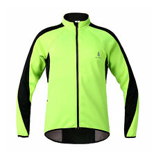 Men Fleece Thermal Cycling Jersey Jacket Windproof Wind Coat Bicycle Clothing