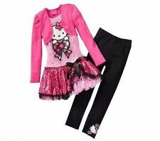 Latest New Baby Girls Kids Cat Spring/Fall (Dress+Pant) 2-7 Years KK093