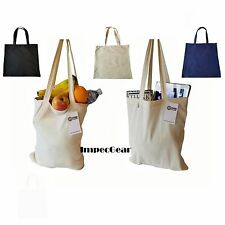 SET OF 6-100% Cotton Reusable Grocery Blank Shopping Tote Totes Bag Bags 14 x 16