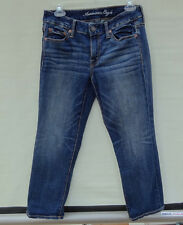 AMERICAN EAGLE LADIES JEANS CAPRIS Cropped Boy Fit Size 2 NICE!!
