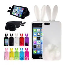 Cute Soft Rabbit Bunny TPU Back Protector Phone Cover Case Skin For iPhone 5/5S