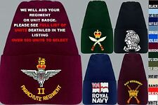 UNITS R-R UK & FOREIGN ARMY ROYAL AIR FORCE NAVY RAF REGIMENT BEANIE WOOLLY HAT