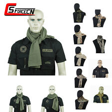 Tactical Camouflage Scarf Scrim Meshy Balaclava Face Mask Camo Veil Airsoft Army