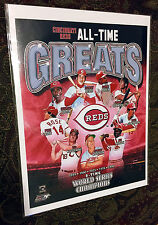 CINCINNATI REDS All Time Greats 8X10 TEAM PHOTO with Pete Rose, Johnny Bench