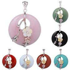 40mm Lucky Crystal Point Healing Powers Amulet Gemstone Pendant for DIY Necklace