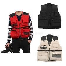 New Adult Fly Fishing Vest Mesh Lining Multi-Pockets for Angler Photographer