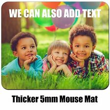 Personalised Custom Image Picture Photo TXT Mouse Mat Pad 5mm Extra Thick Rubber