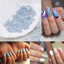 1440Pcs Rhinestone Crystal Blue Opal Glue Non Nail Art Decorations DIY Manicure
