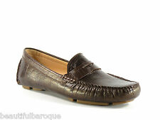 Cole Haan Trillby Driver Chestnut Brown Croc Leather Loafer D40927 NEW Size 6.5