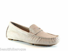 Cole Haan Trillby Driver Metallic Lizard Suede Leather Loafer D42500 Size 9.5