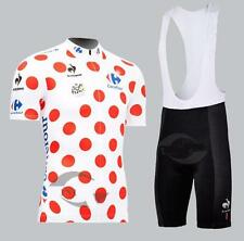Tour de France Cycling Jersey and Bib Shorts Set Polka Dot