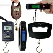 Portable LCD Electronic Pocket Digital Hook Hanging Luggage Scale Fishing BLLT