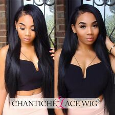 Best Women's Silky Straight Full Lace Wigs Indian Remy Human Hair Lace Front Wig