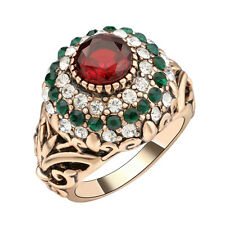 Turkey fashion green crystal rhinestone ruby resin statement ring hot trending!