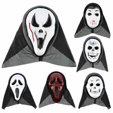 Scary Ghost Mask Scream Halloween Grimace Mask Fancy Party Props Face RX