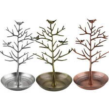 Retro Bird Tree Jewelry Earrings  Stand Holder Show Rack Necklace Display RX
