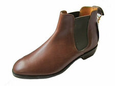 "MENS LOAKE BROWN LEATHER ANKLE BOOTS ""753T"""