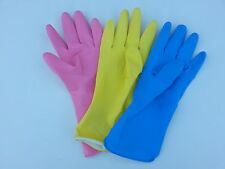 1 TO 6 PAIRS SUPER TOUCH HOUSEHOLD RUBBER GLOVES MEDIUM LARGE FLOCK LINED