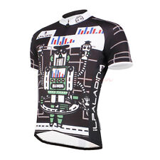 Men Cycling Jersey Short Sleeve Full Zipper Bike Biking Cyclist Shirt Cute