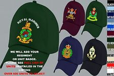 UNITS R-R1 UK & FOREIGN ARMY ROYAL AIR FORCE NAVY RAF REGIMENT BASEBALL CAP HAT