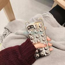 For iPhone 7 7 Plus 6S Plus Bling Shining Glossy 3D Cartoon Bear Soft Case Cover