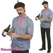 Adult Mens French Man Set Costume Traditional Parisian France Outfit Fancy Dress