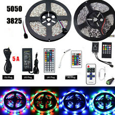 5M Flexible RGB Led Strip 3528 5050 SMD 300 Leds String Light lamp+Remote+power