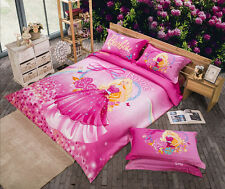 *** Princess Barbie Single Bed Quilt Cover Set - Flat or Fitted Sheet ***