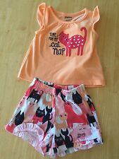 NWT Gymboree Girls Gymmies Kitty Shortie Pajamas Set 12 18 24M, 4,5/6,7/8