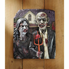 Halloween Flesh Hungry American Zombie Gothic Haunted House Wall Sculpture