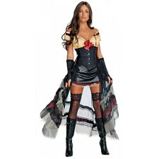 Lilah Costume Adult Jonah Hex Sexy Saloon Girl Halloween Fancy Dress