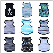 Wholesale 9 PCS Lot Boy Dog Clothes Shirt Male Cat Puppy Vest Small Medium Pets