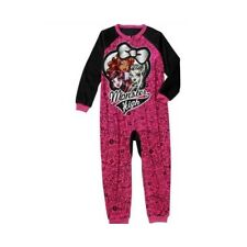 New Girls' Monster High Onesie One Piece PJ Pajamas SZ 4-5 6-6X 7-8 10-12