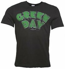 Official Men's Charcoal Green Day Logo T-Shirt from Amplified