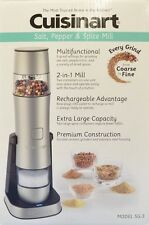 CUISINART RECHARGEABLE SALT PEPPER SPICE MILL GRINDER STAINLESS STEEL NEW IN BOX