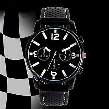 MEN FASHION NUMERAL DIAL SILICONE BAND SPORT ANALOG QUARTZ WRIST WATCH GRACE
