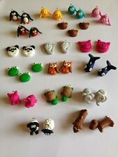 10 Animal Fimo Charms Dog Bird Bear Elephant Turtle Sheep Pig Panda Frog Penguin