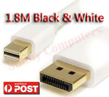 Mini DisplayPort to Display Port 1.8M Cable For MacBook Pro Air Mac Black White