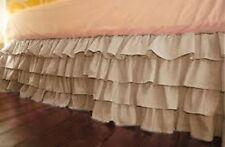 One Qty Ruffle Bed Skirt Egyptian Cotton 1000 TC Taupe Solid Drop 15 Inch